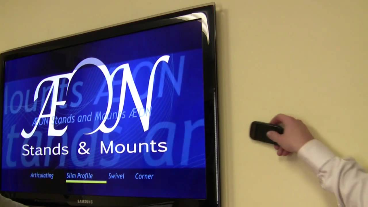 LED TV Mount  Slim Low Profile Close To Wall TV Mount