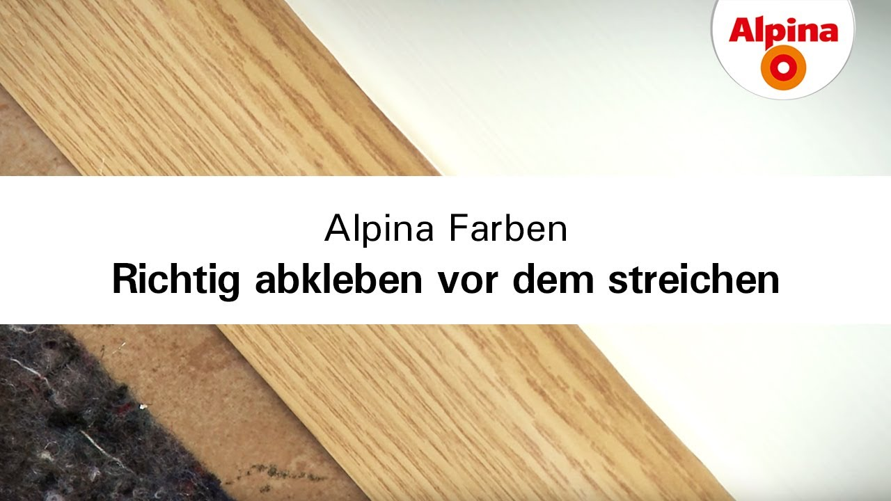 alpina farben richtig abkleben vor dem streichen youtube. Black Bedroom Furniture Sets. Home Design Ideas