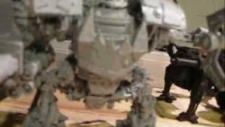 40K Video Orks Mega Dred vs Thunderwolves Bat Rep.wmv