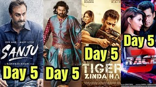 Sanju 5th Day Collection Vs Baahubali 2, Tiger Zinda Hai, Race 3 Box Office Collection Video