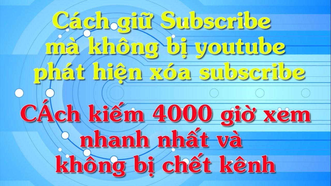 Cách kiếm 1000 Sub và 4000 giờ xem để bật kiếm tiền kênh YOUTUBE