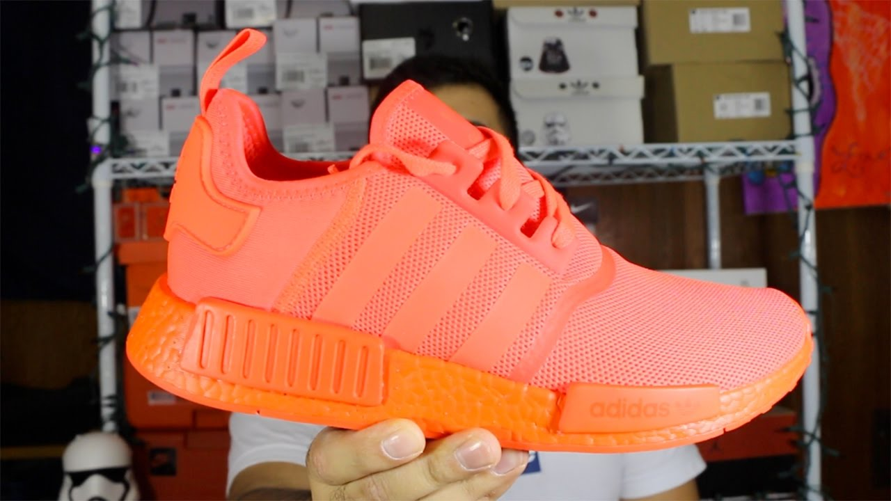 27aa94cea1321 Adidas NMD R1 Solar Red Review + On Foot! - YouTube
