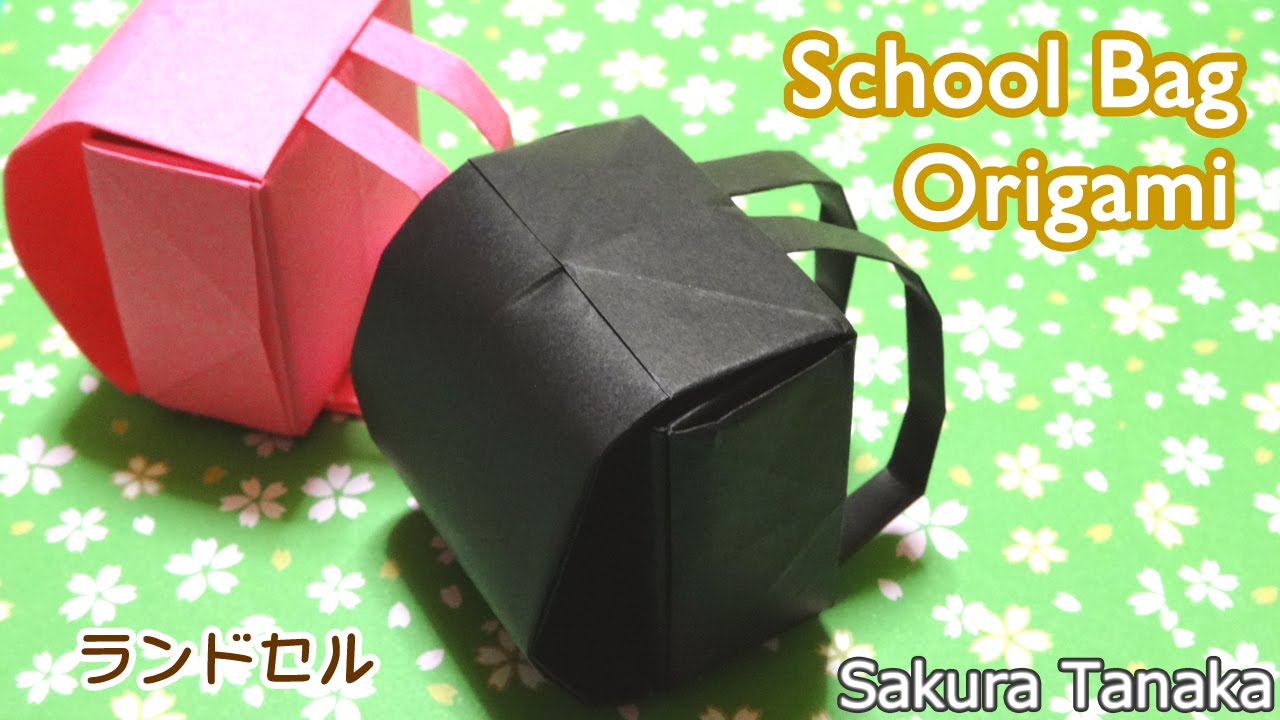 origami school bag ��� ���� ��� youtube