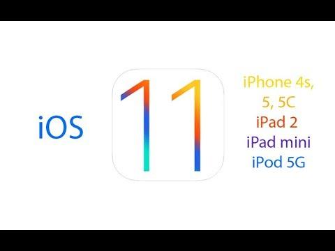 iOS 11 on iPad2, 3, 4, iPad mini, iPhone 4s, 5, 5C, iPod 5G