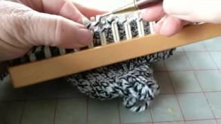 short rowing the heel and starting the foot of a top down sock