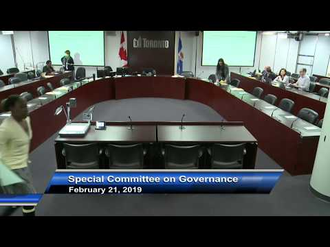 Special Committee On Governance - February 21, 2019