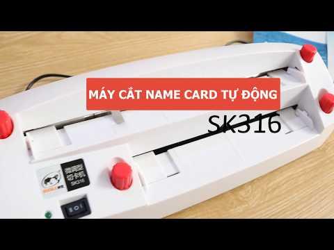 Máy cắt card visit SK316  | Máy cắt name card tự động