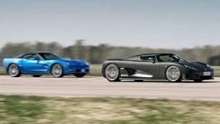 1080p corvette zr1 vs koenigsegg ccr evo