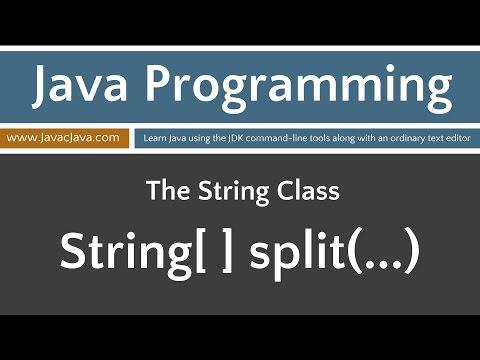 Learn Java Programming - String Class Split(...)