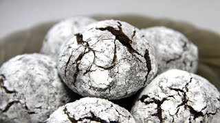 Шоколадное печенье с трещинками. Сладкий рецепт