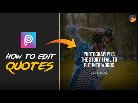 Motivational & Inspirational Quotes Editing 🔥 || PicsArt Tutorial || AC EDITION