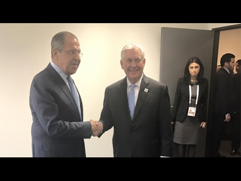 Breaking Russian Sergey Lavrov & USA Secretary of State Rex Tillerson meet 1st time February 2017