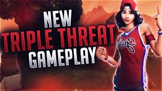 JUMPSHOT & TRIPLE THREAT *NEW* BASKETBALL SKIN - Fortnite Battle Royale Gameplay!