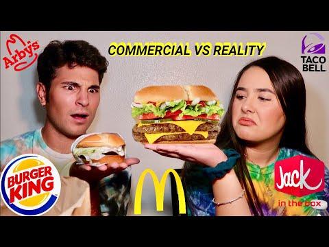 FAST FOOD ADS vs REALITY!