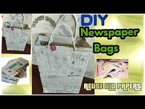How to Make a Paper Bag with Newspaper | Paper Bag Making Tutorial