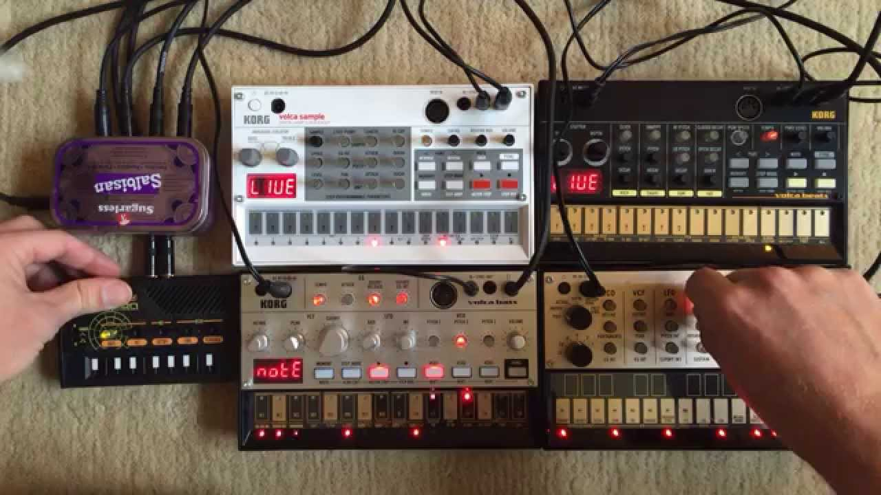 KORG Volca Bass, Beats, Keys, Sample & Monotron | TECHNO Jam #02 #1