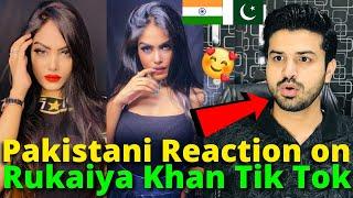 Pakistani React on Rukaiya Khan Latest TIKTOK VIDEOS | Indian TikToker | Reaction Vlogger