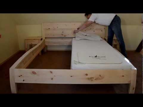 Balkenbett bauanleitung  Balkenbett Altholz part 1 / Beam-bedded / waste wood oak furniture ...