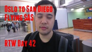 Oslo to  San Diego flying SAS & Virgin America - RTW Day 42 - Two Minute Travel