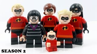 Lego Disney Pixar Incredibles 2 - Stop Motion Cartoon For Kids | Compilation LuckyCleverToys - EP2