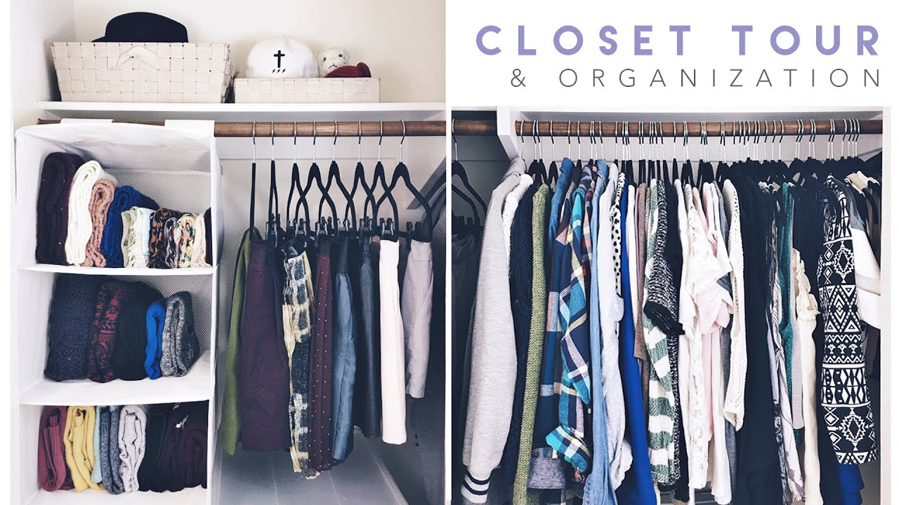 Closet Tour + Organization 2016   YouTube