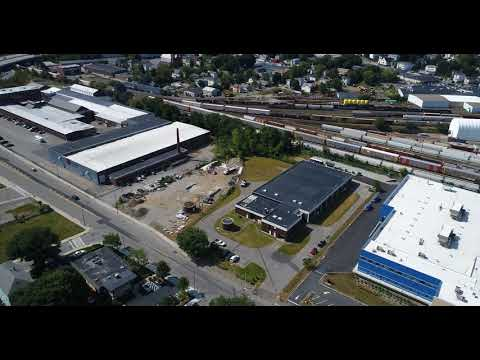 Drone View of Providence & Worcester Yard