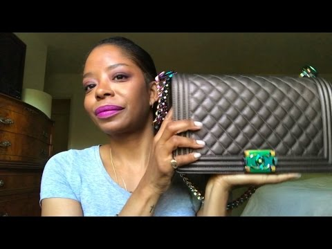 efdd98543812 Chanel Mermaid/Iridescent Boy Bag - One Year Review and WIMB - YouTube