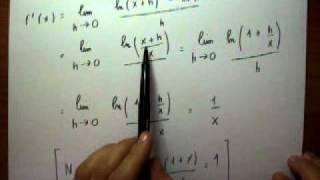 derivate 2 derivata di e x e di ln x