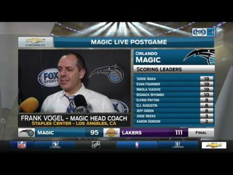 Frank Vogel -- Orlando Magic at Los Angeles Lakers 01/08/2017