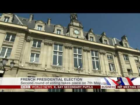 BBC World News - French Presidential Election intro - 23.04.2017