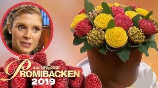 Pull Apart Cupcake Blumenstrauß auf Schokokuchen 1/2 | Aufgabe | Das große Promibacken 2019 | SAT.1