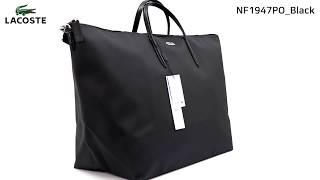 LACOSTE 라코스테 여성 여행용 도트백 블랙 NF1…