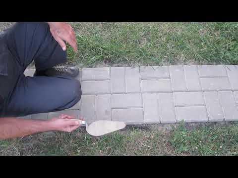 Укладка тротуарной плитки без бордюра