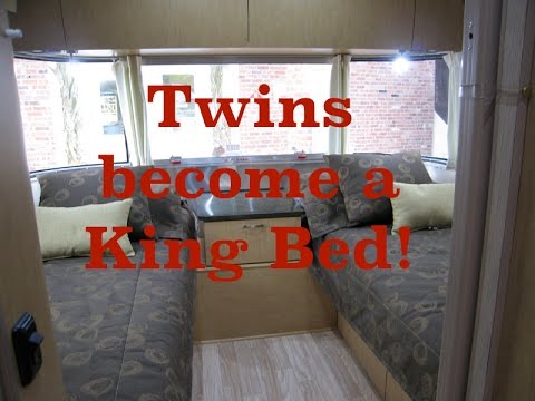 Airstream Converting Twin Beds Into A Residential King Size Bed