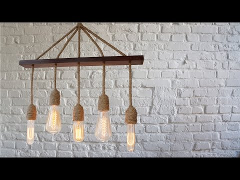 Ретро люстра своими руками. Лампа Эдисона. #DIY.