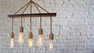 �������� ���� Ретро люстра своими руками.  Лампа Эдисона.  #DIY. ������
