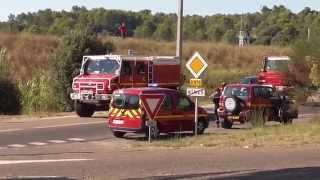 Incendie de Broussailles - pompiers + canadairs - 02/08/2015
