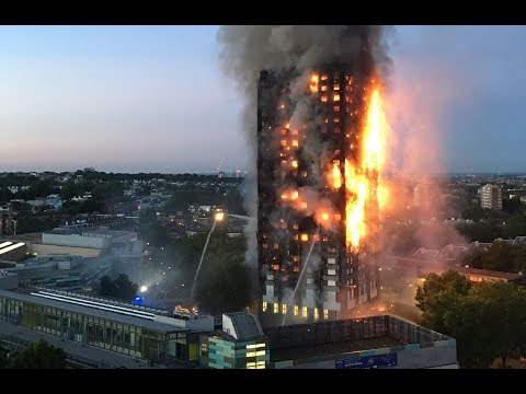Video: A witness talks about seeing people jumping from the London apartment building fire.