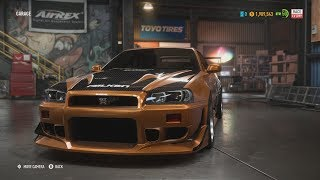 History of Eddie's Nissan Skyline in Need for Speed