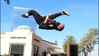 REAL LIFE NINJA IN PUBLIC | Flips, Tricks and Martial Arts