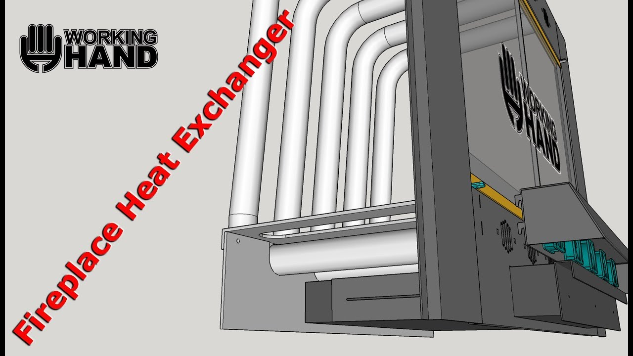 FIREPLACE HEAT EXCHANGER DIY With a little help! - YouTube
