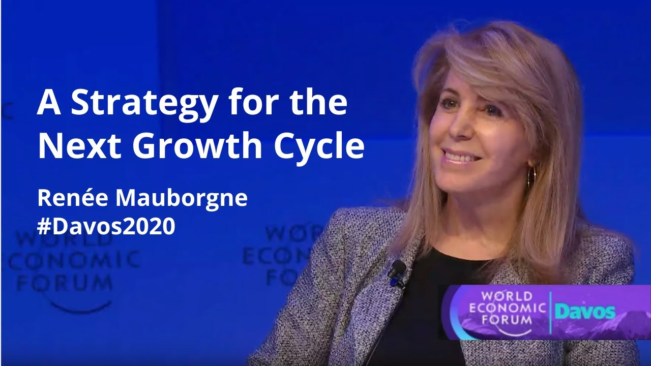 Renée Mauborgne at #Davos2020 offering a blue ocean perspective on the next growth cycle
