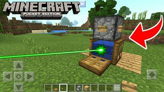 Como Hacer Un Láser Sin Mods en Minecraft PE 1.1.0.9 || Funciona ✓ MCPE Láser