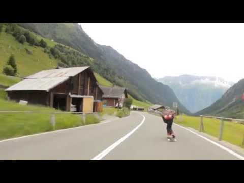Raw run in the Swiss Alps