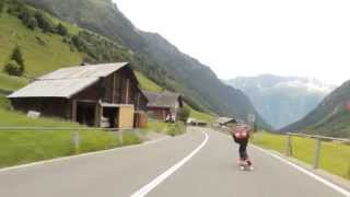 Raw run in the Swiss Alps