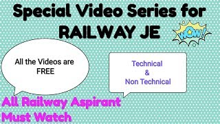 Railway JE | Special Video Lecture Series | FREE by Bharat Kumar Mahawar