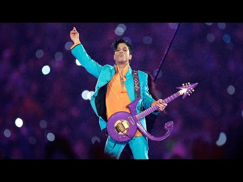 "Prince Performs ""Purple Rain"" During Downpour  Super Bowl XLI Halftime Show  NFL"