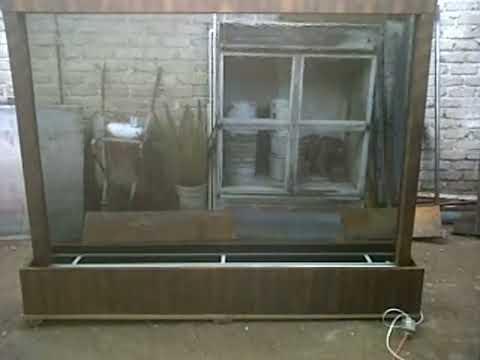 Muro de agua en cristal templado for Muro cristal