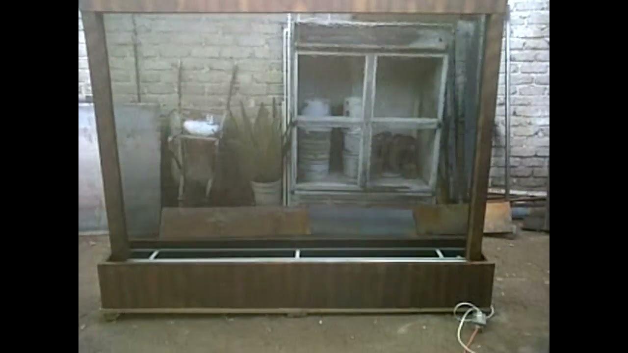 Muro de agua en cristal templado youtube for Muro cristal