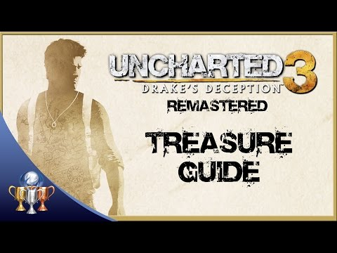 Uncharted 3 Drakes Deception Remastered - All 101 Treasure Collectibles - Nathan Drake Collection